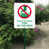 Stay on path sign