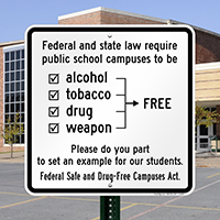 Alcohol Tobacco Drug Weapon Sign