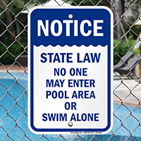 Notice State Law Pool Safety Signs