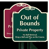 Out Of Bounds No Ball Retrieval Sign
