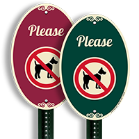 Please No Dog Poop Sign