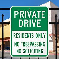 Private Drive Sign