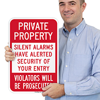 Private Property Silent Alarms Alerted Security