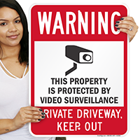 Property Protected by Video Surveillance Signs