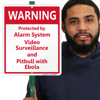 Protected By Alarm System LawnBoss Sign