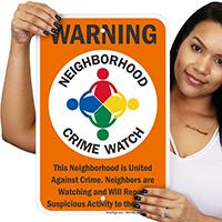 Report Suspicious Activity Sign