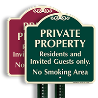 Private Property Residents And Invited Guests Only SignatureSign