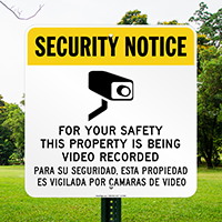 Bilingual Video Security Sign (with Graphic)