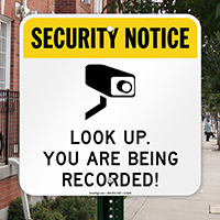 Security Notice - CCTV Sign