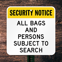 Security Notice - Search Sign