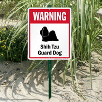 Warning Shih-Tzu Guard Dog LawnBoss™ Signs