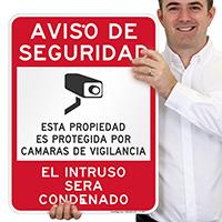 Spanish Video Surveillance Sign