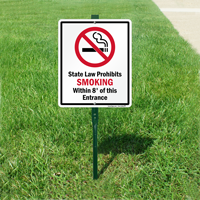 State Law Prohibits Smoking Sign