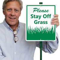 Keep Off Grass LawnBoss sign