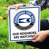 Neighborhood Crime Watch Suspicious Activities Reported Sign