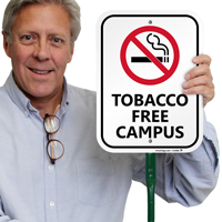 Tobacco Free Campus Lawnboss Sign