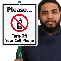 Please Turn Off Your Cell Phone LawnBoss® Sign