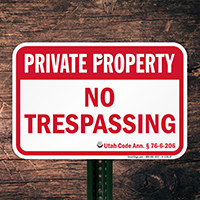 Utah Private Property Sign