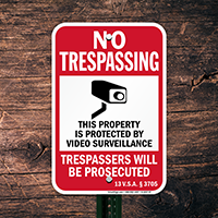 Vermont Trespassers Will Be Prosecuted Sign