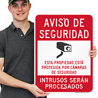 Video Surveillance Sign in Spanish