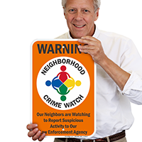 Warning Neighborhood Crime Watch Sign