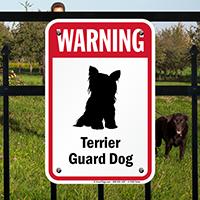 Warning Terrier Guard Dog Guard Dog Sign