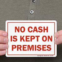 No Cash Is Kept On Premises Label