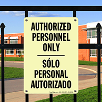 Authorized Personnel Solo Personal Autorizado Glow Sign
