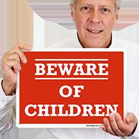 Humorous Beware Of Children Sign