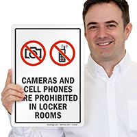 Cameras And Cell Phones Prohibited Sign