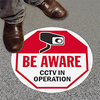 Be Aware CCTV In Operation Floor Sign