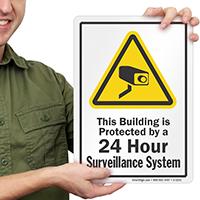 24 Hour Surveillance Security Sign
