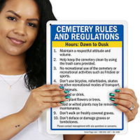 Cementry Regulations Signs