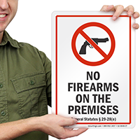 Connecticut Firearms And Weapons Law Sign