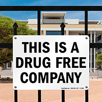 Drug Free Company Sign