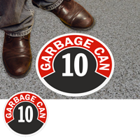 Garbage Can 10 Floor Sign & Label