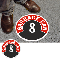 Garbage Can 8 Floor Sign & Label
