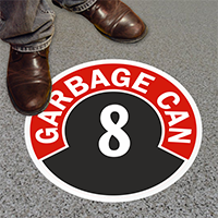 Garbage Can - 8 Floor Sign