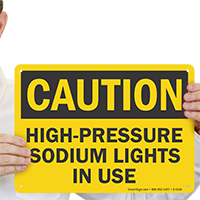 High Pressure Sodium Lights in Use Dispensary Sign
