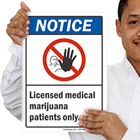 Licensed Medical Marijuana Patients Only Dispensary Supply Sign