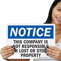 Lost Or Stolen Property Sign