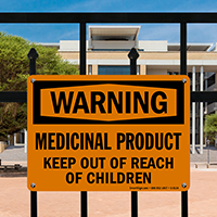 Medicinal Product, Keep Out Of Reach Children Sign