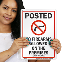 Montana Gun Control Law Sign