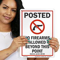 North Dakota Gun Control Law Sign