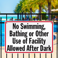 Pool Hours Sign for Nevada