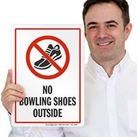 No Bowling Shoes Sign