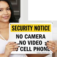 Security Notice -  No Camera Sign