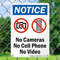 Notice NO Security Sign