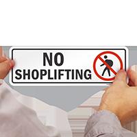 No Shoplifting Sign