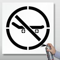 No Skateboarding Floor & Pavement Stencil